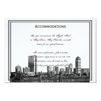 Boston Destination Wedding Accomodations Personalized Announcement