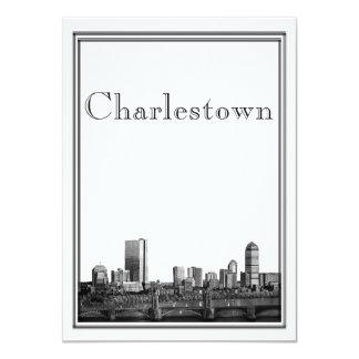 Boston Destination Wedding Charlestown 4.5x6.25 Paper Invitation Card