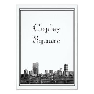 """Boston Destination Wedding Copley Square 4.5"""" X 6.25"""" Invitation Card"""