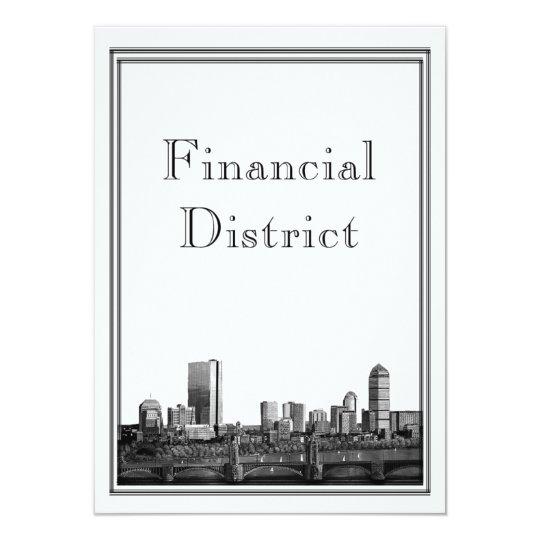 Boston Destination Wedding Financial District Card