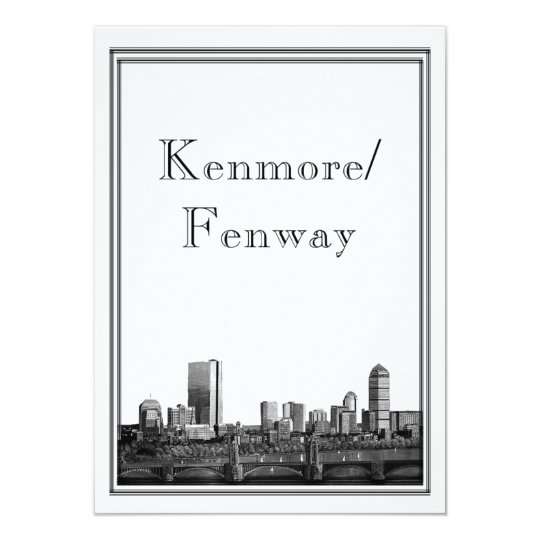 Boston Destination Wedding Kenmore Fenway Card