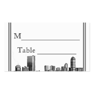 Boston Destination Wedding Place Card Business Card