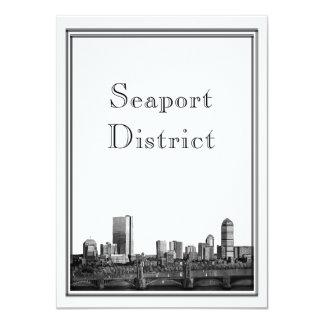 Boston Destination Wedding Seaport District Card
