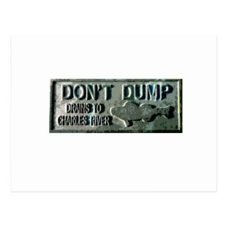 Boston - Don't Dump Postcard