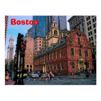 Boston Downtown Postcard