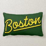 Boston en amarillo cojines