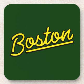 Boston en amarillo posavasos