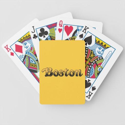 Boston en amarillo y rayas negras barajas