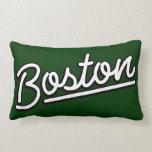 Boston en blanco almohadas