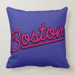 Boston en magenta almohada