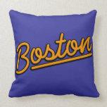 Boston en naranja cojin