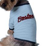 Boston en rojo camisetas de perrito