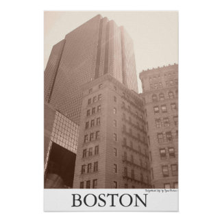 "Boston - ""Enlightened City"" Poster"
