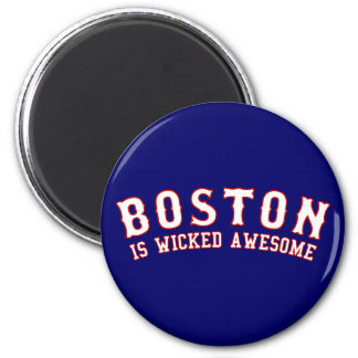 Boston es impresionante travieso iman para frigorífico