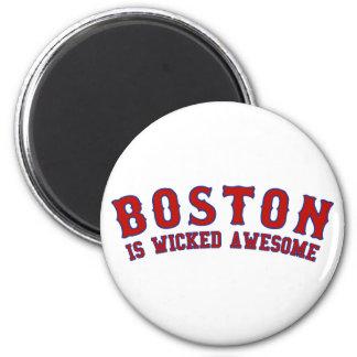 Boston es impresionante travieso imán de nevera