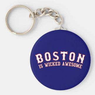 Boston es impresionante travieso llavero redondo tipo pin