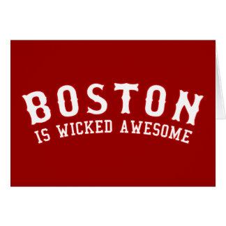 Boston es impresionante travieso tarjeton