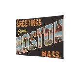 Boston, escenas de la letra de MassachusettsLarge Impresion En Lona
