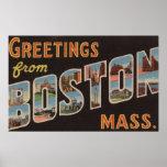 Boston, escenas de la letra de MassachusettsLarge Posters