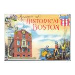 Boston, escenas de MassachusettsHistorical Boston Impresiones En Lona