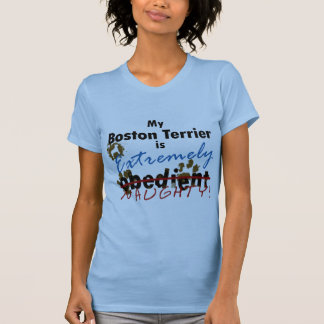 Boston extremadamente traviesa Terrier Tee Shirt