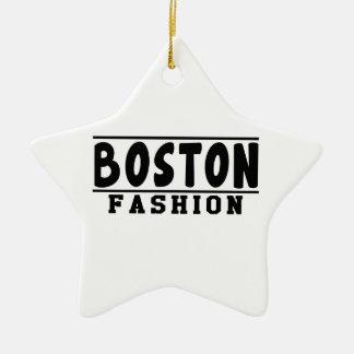 Boston Fashion Designs Christmas Ornament