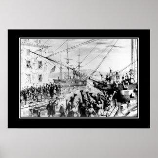 Boston fiesta del té 16 de diciembre de 1773 póster