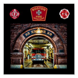 Boston Fire Engine-33 Print