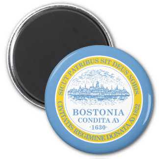 Boston Flag 2 Inch Round Magnet