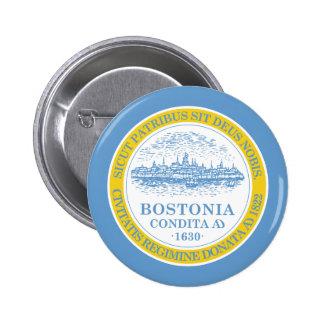 Boston Flag Button