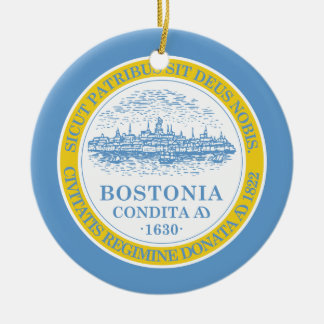 Boston Flag Ceramic Ornament