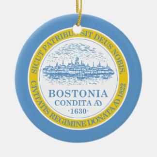 Boston Flag Christmas Tree Ornaments