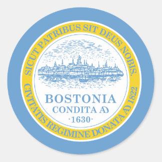 Boston Flag Classic Round Sticker