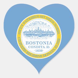 Boston Flag Heart Sticker