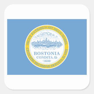 Boston Flag Square Sticker