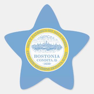 Boston Flag Star Sticker