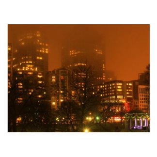Boston Foggy First Night Postcard
