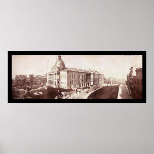 Boston, foto 1903 de la casa del estado del mA Posters