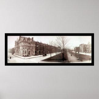 Boston, foto 1903 de la mansión del mA Poster