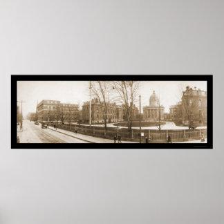 Boston, foto 1903 del hospital del mA Impresiones