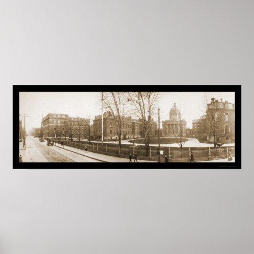 Boston, foto 1903 del hospital del mA Póster