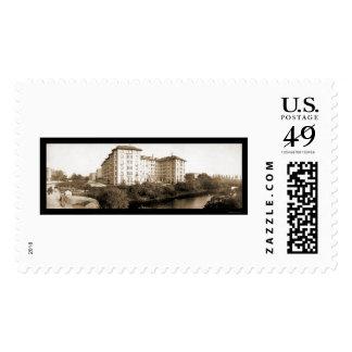 Boston, foto 1903 del hotel del mA Timbre Postal