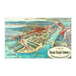 Boston Freight Terminals 1903 Canvas Prints