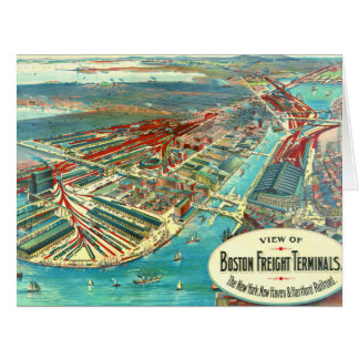 Boston Freight Terminals 1903 Card