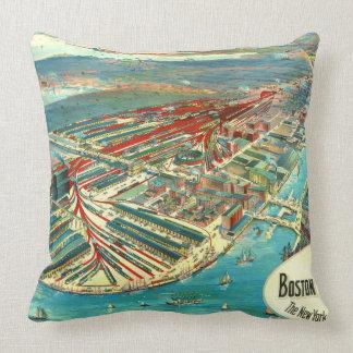 Boston Freight Terminals 1903 Throw Pillows
