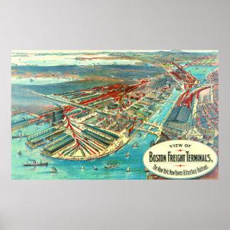 Boston Freight Terminals 1903 Poster