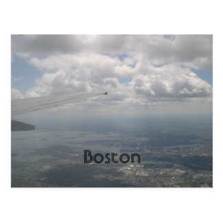 Boston from the air postcard
