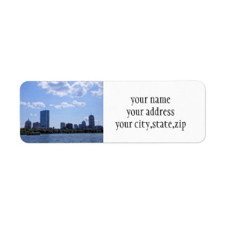 Boston From The Charles River Label