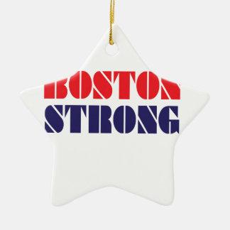 Boston fuerte adorno navideño de cerámica en forma de estrella