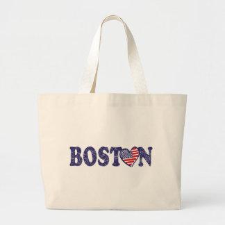 Boston fuerte bolsa tela grande